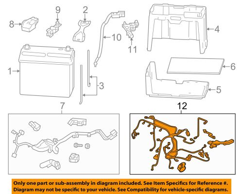 small resolution of details about honda oem 12 13 civic 1 8l l4 battery engine wiring harness 32110r1aa53