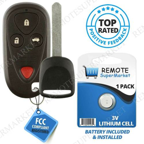 small resolution of details about replacement for acura 2004 2006 tl 2004 2008 tsx remote car keyless key fob set