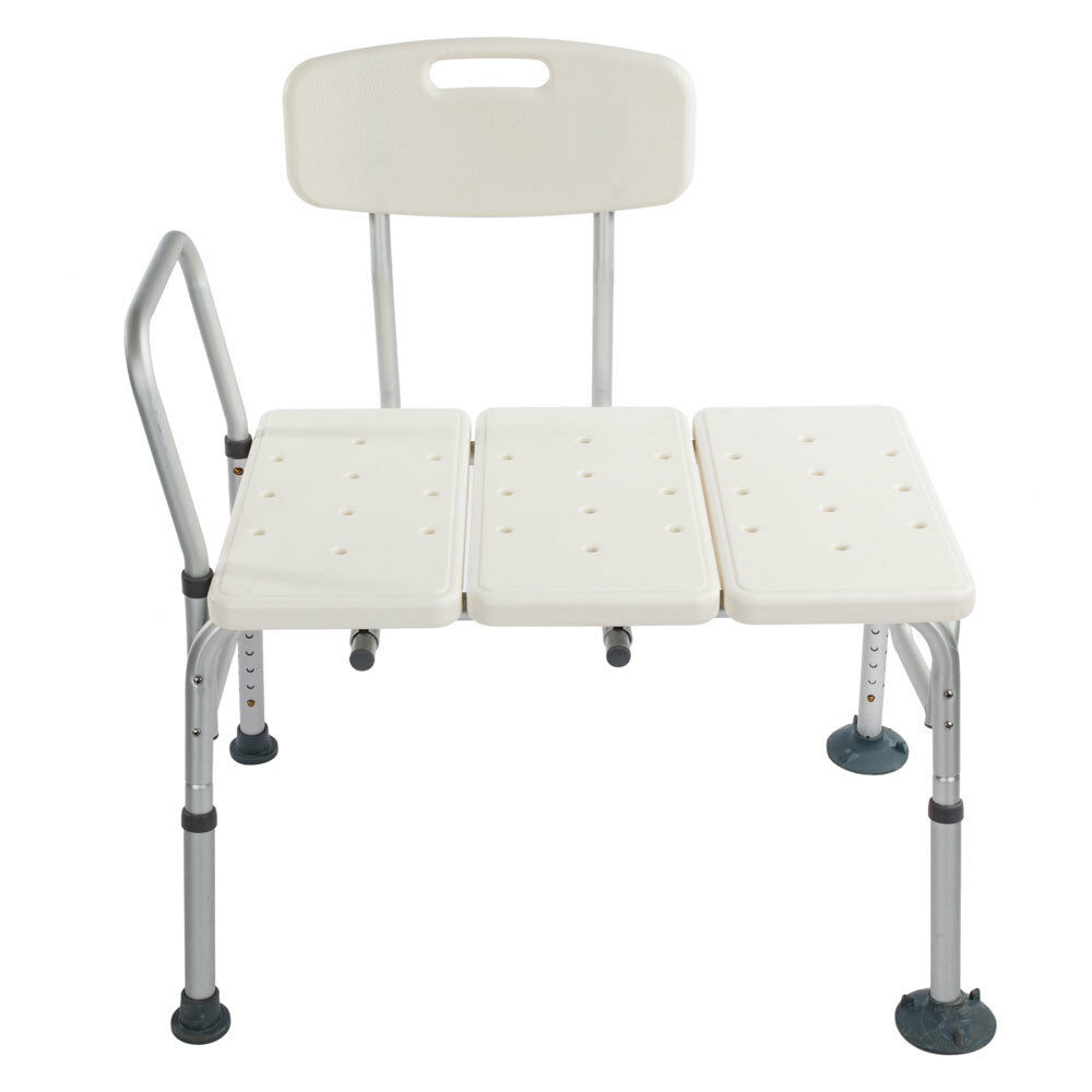 difference between shower chair and tub transfer bench egg white leather 10 height adjustable bath details about medical