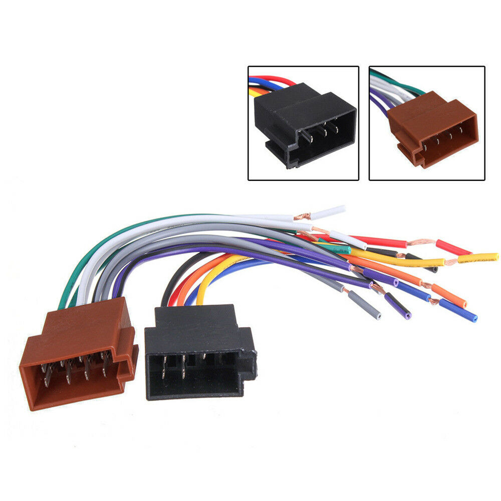 hight resolution of details about 2pcs female car iso radio wire wiring harness adapter connector adaptor plug