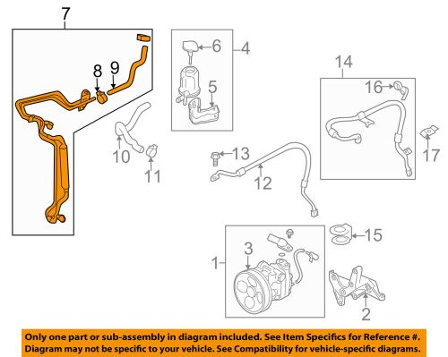 small resolution of details about subaru oem 08 14 tribeca pump hose power steering cooler tube 34620xa000