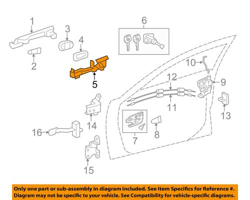 small resolution of details about toyota oem 12 17 camry front door handle base left 6920206120