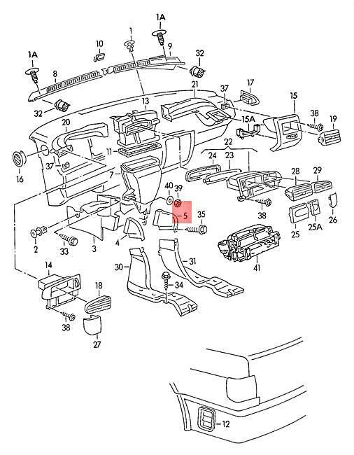 Genuine air channel for pass cabin heater lhd right front