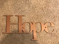 HOPE INSPIRATIONAL WALL PLAQUE METAL ART DECOR WORD | eBay