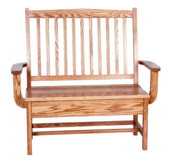 Amish Oak Bench Wooden Wood Entry Benches Storage Seat eBay