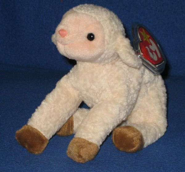 Ty Ewey Lamb Beanie Baby - Mint With Tag