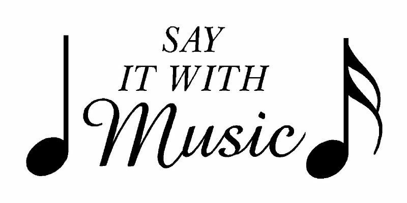 Say it with music + notes Vinyl Wall Lettering Decal