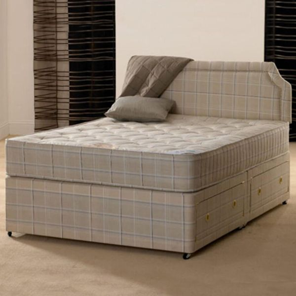 4ft Small Double Paris Orthopaedic Divan Bed With Mattress
