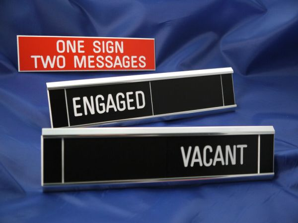 Sliding Signs Engaged Vacant Entry Control System eBay