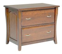 Amish File Cabinet Solid Wood Wooden Lateral 2 Drawer ...