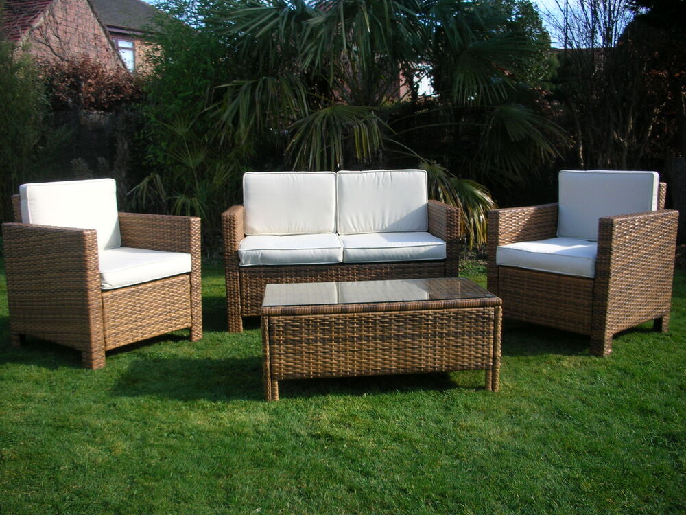 NEW RATTAN WICKER CONSERVATORY OUTDOOR GARDEN FURNITURE