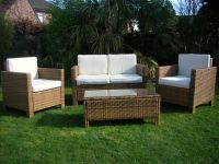 NEW RATTAN WICKER CONSERVATORY OUTDOOR GARDEN FURNITURE ...