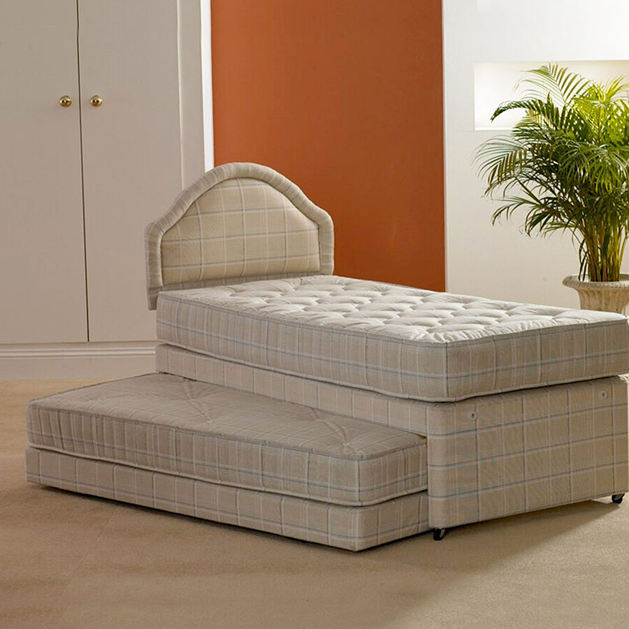 SINGLE 3 IN 1 GUEST BED WITH 2 x DEEP QUILTED MATTRESSES