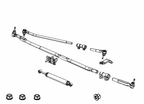 2003-2013 DODGE RAM STEERING LINKAGE DRAG LINK PITMAN ARM