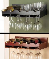 Wooden Wine Rack IN STOCK Wall Mount Hanging Glass Holder ...