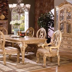 Italian Classic Furniture Living Room Small Interior Design Photos India Tuscany Traditional Formal 7 Pc Dining Set Table ...
