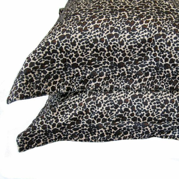 Leopard Print Fur Pillowcase Set Soft Luxury Velvet Feel