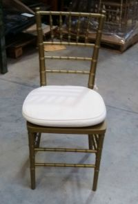 Bamboo Restaurant & Dining Banquet Chair, Gold w/Off White ...