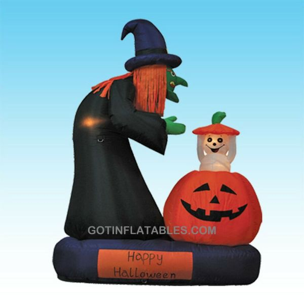 Animated Halloween Inflatable Witch Pumpkin Ghost Yard Air