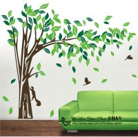 Jungle Tree Removable Wall Art Stickers Kids Nursery Vinyl ...