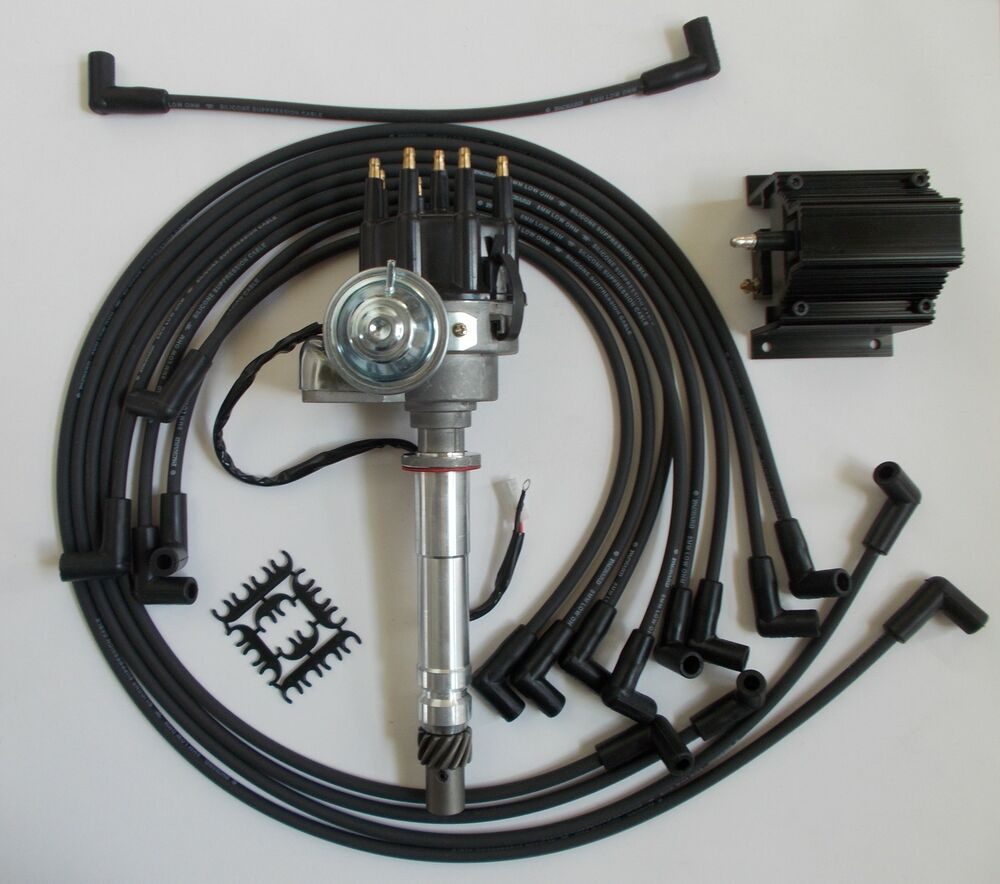 medium resolution of small block chevy 350 black small hei distributor coil plug wires small block chevy coil wiring