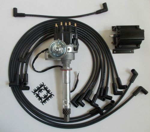 small resolution of small block chevy 350 black small hei distributor coil plug wires small block chevy coil wiring