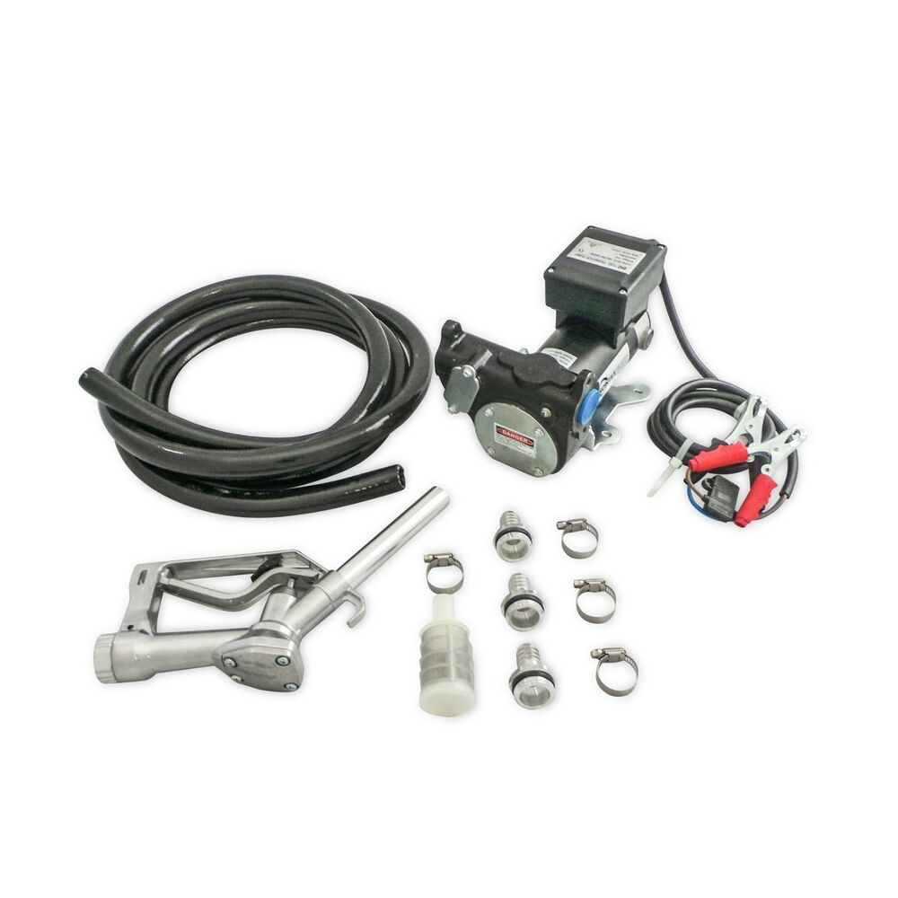 NEW 12V DC Electric Transfer Fuel Pump Diesel Kit 57 LPM
