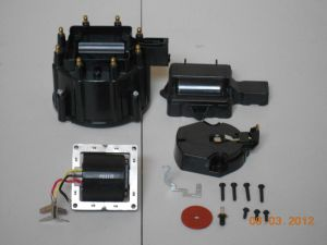 BLACK HEI Distributor Cap, Coil Cover & Rotor Kit and 65,000 Volt Coil GMCHEVY | eBay