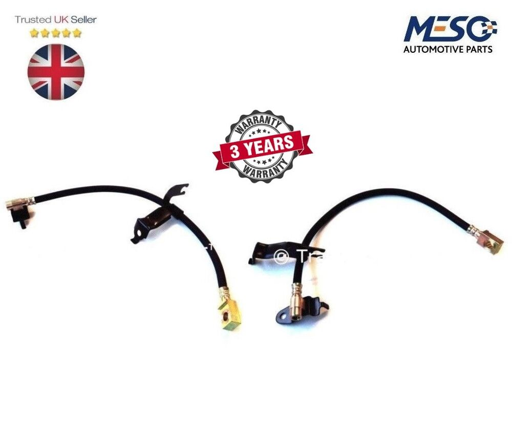A PAIR OF FRONT BRAKE PIPE HOSE FORD TRANSIT MK6 2000-2006