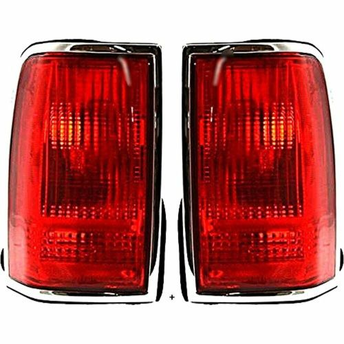 small resolution of details about fits 90 97 ln town car tail lamp light w chrome trim w o logo right left se