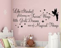 WALL ART STICKERS QUOTES STARDUST GLISTENING FAIRY GIRLS ...