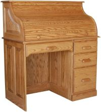 Amish Rolltop Writing Computer Desk Home Office Furniture ...