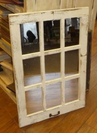 Barn Wood 9-Pane Window Mirror Vertical Rustic Home Decor ...