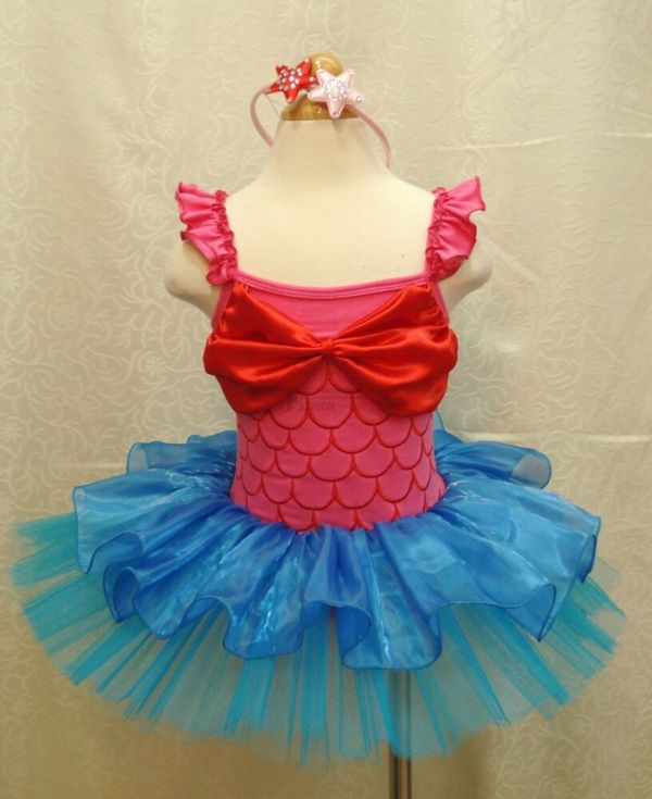 Little Mermaid Ariel Princess Girls Party Costume Tutu