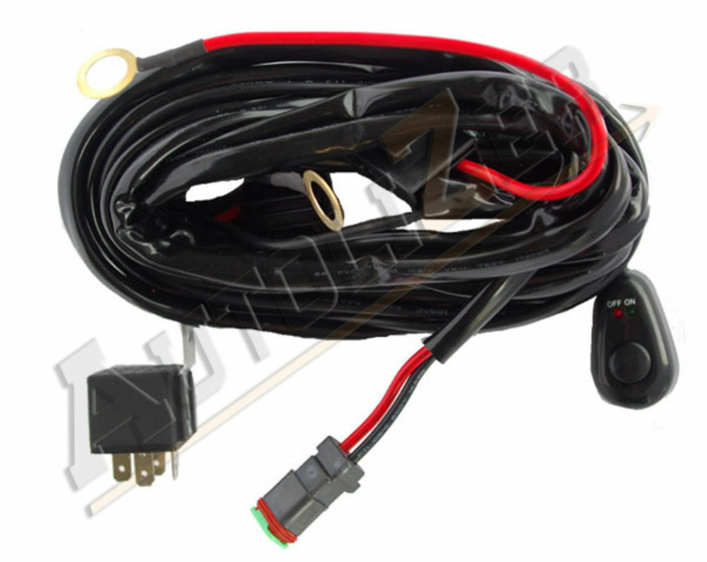 Off Road LED LIGHT Bar On-Off Power Switch 40 Amp Relay