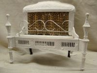 ANTIQUE 1900'S CAST IRON ORNATE GAS FIREPLACE INSERT ...