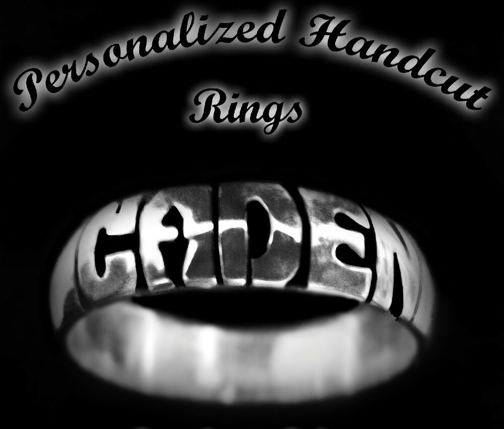 Personalized 5mm Handcut Carved Engraved Sterling Silver