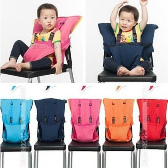 booster seat straps to chair low profile lawn chairs 2016 updated baby child portable high cover belt with shoulder | ebay