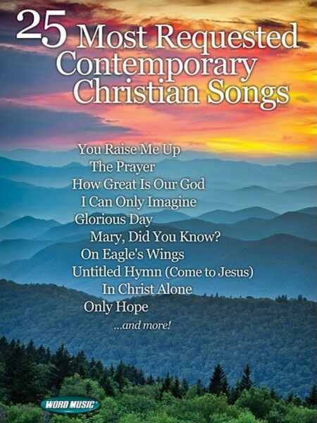 25 Most Requested Contemporary Christian Songs Sheet Music Sacred Foli 000110584  eBay