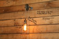 Industrial Pulley Wall Sconce for your Trouble Light ...