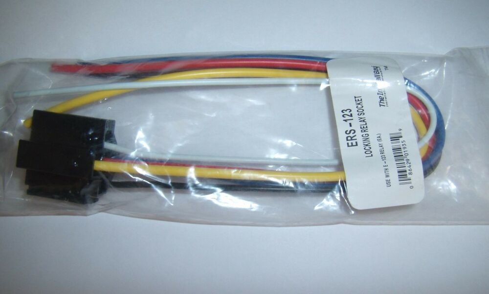 (1) 12V DC SPDT Relay Socket Harness 5 Pin Wire 16-14 GA