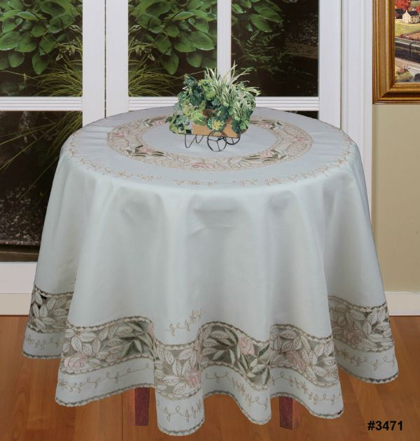 Pink Tablecloth with Ivory Napkins