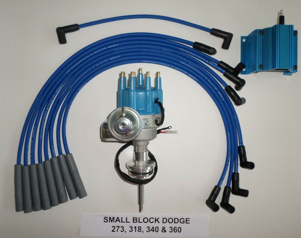 medium resolution of dodge 273 318 340 360 blue small cap hei distributor 50k ignition coil wiring vw beetle