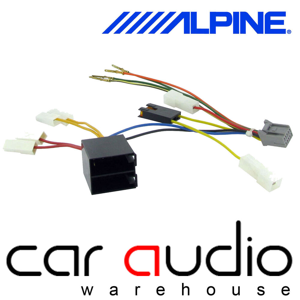 hight resolution of details about alpine 10 pin iso head unit replacement car stereo radio wiring harness ct21al05