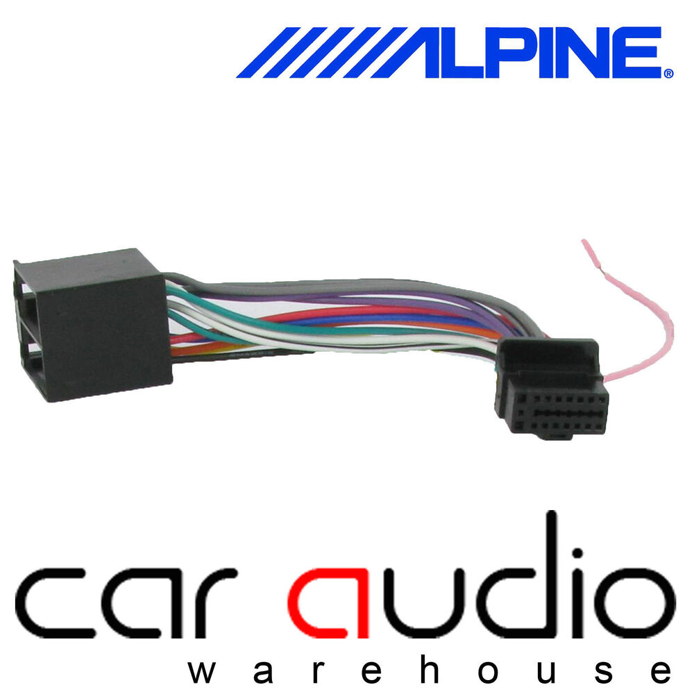 hight resolution of details about alpine 16 pin iso head unit replacement car stereo radio wiring harness ct21al01