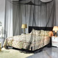4 Corner Post Bed Canopy Mosquito Net Full Queen King Size ...