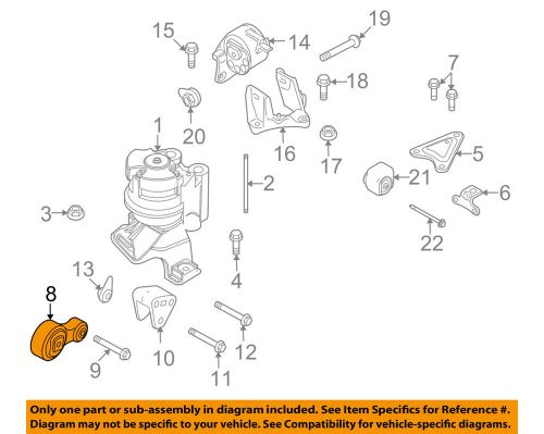 small resolution of details about ford oem engine motor mount torque strut 8h6z6068a