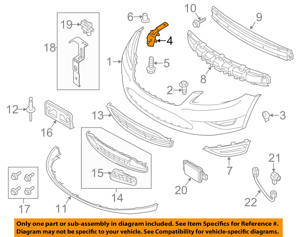 hight resolution of ford oem 10 15 taurus front bumper side support bracket left