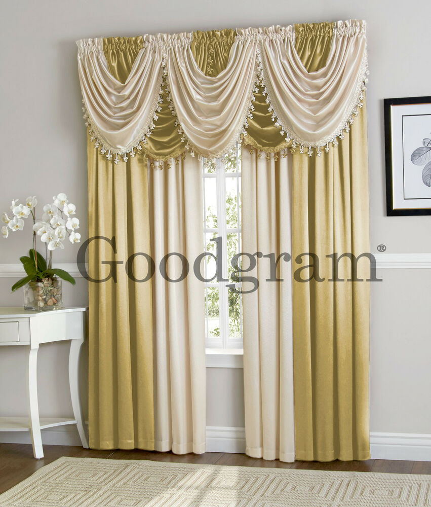 Hyatt Extra Wide Curtain Set In Antique Gold  Candlelight  eBay