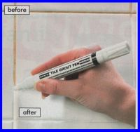 GROUT WHITENING TILE REFRESH PEN - BATHROOM, SHOWER,WET ...